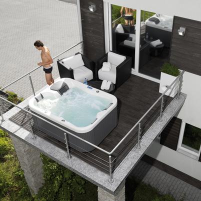 Vasche idromassaggio per interno ed esterno installazione - Bagno con vasca incassata ...